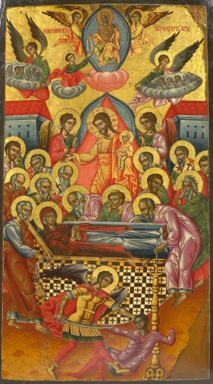 Orthodox Icon of the Dormition